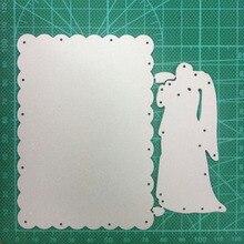 106*77mm Cutting Dies Making Scrapbook Greeting Card frame Wedding Couple Metal Stencil Frame Embossing