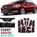 Противоскользящий резиновый подстаканник для Chery Arrizo 5  2016  2017  2018  2019  коврик для двери  автомобильные аксессуары  наклейки для автомобиля