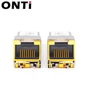 Image 2 - ONTi Gigabit RJ45 SFP Modul 1000Mbps SFP Kupfer RJ45 SFP Transceiver Modul Kompatibel für Cisco/Mikrotik Ethernet Switch