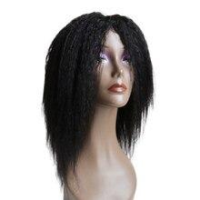 Парик емол кудрявый прямой, полностью изготовленный в машине, Парики Yaki из человеческих волос для женщин, 100% бразильские прямые Недорогие п...