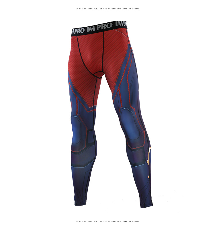 2019 New The Avengers4 Captain Marvel 3D Compression Pants  Printed Pants Men Compression  Cosplay Quick-drying Clothes For Gyms