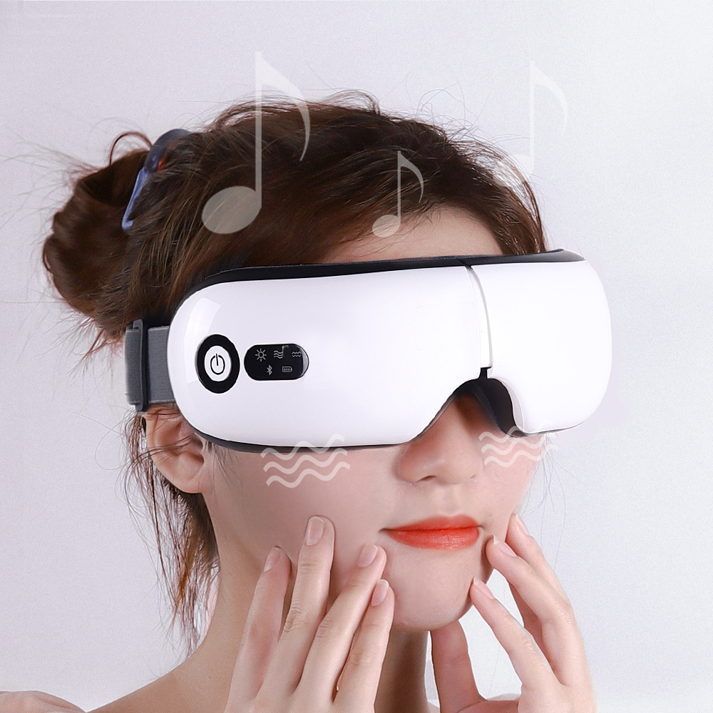 Smart Eye Massager High Frequency Vibratio Electric Bluetooth Airbag vibration Eye Care hot compress Foldable eye protection|Eye Massage Instrument| - AliExpress