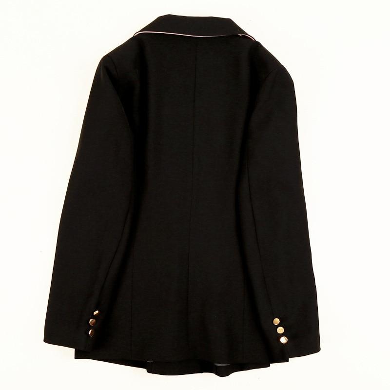 High quality temperament ladies jacket suit large size Autumn single-breasted black women's blazer Professional office suit 2019