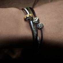 цены Multi-Layers Handmade Slide Beads Charm Lucky Rope Bracelet & Bangles For Women Men Wax Thread Bracelets