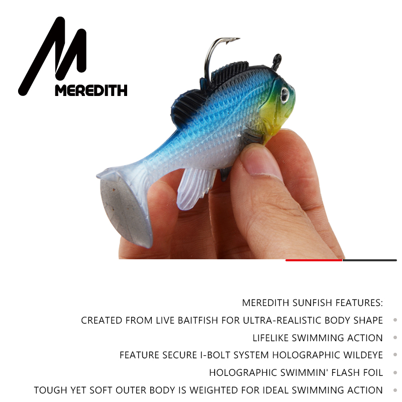 Meredith 3pcs Sunfish 8cm 21 6g Lead Head Fishing Lure Artificial Soft Baits Fishing soft Lure Wobblers Lead bait Tackle in Fishing Lures from Sports Entertainment