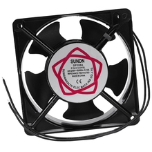 120x120x38mm 5 Blades Metal Frame Axial Flow Cooling Fan AC 220/240V 0.14A 22W free shipping for adda aa1282ub at ac 220 240v 0 17 0 13a 50 50hz 2 piece 120x120x38mm server square cooling fan free shipping