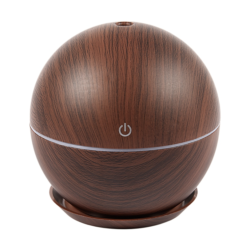 New Ball 130Ml Air Humidifier Electric Aroma Diffuser Aromatherapy Essential Oil Cool Mist Maker 7 Color Light Dark Wood Grain B|Humidifiers| |  - title=