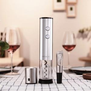 Image 5 - Youpin Circle Joy Electric Bottle Opener Stainless Steel Mini Wine Stopper Wine Decanter Aerator Smart Wine Set Gift