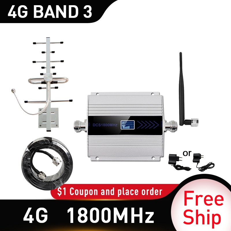 1800mhz Cellular Amplifier Repeater 2g 4g 1800mhz GSM Mobile Signal Booster 4g Signal Booster 1800 Dcs Cellular Cell Phone