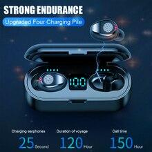 Wireless Headphone Hifi Bluetooth super bass Earphone Waterproof IPX7 headset touch control Earbuds