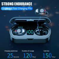 Wireless Headphone Hifi Bluetooth super bass Earphone headset touch control Earbuds F9 for huawei pk i30 i80 tws