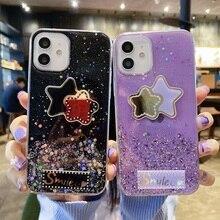 Glitter Case for Samsung A10 A82 A11 A21S A40 Case Silicon A02S A22 A20E A41 A42 A81 A91 A6 A8 Plus 2018 A01 Core Phone Cover