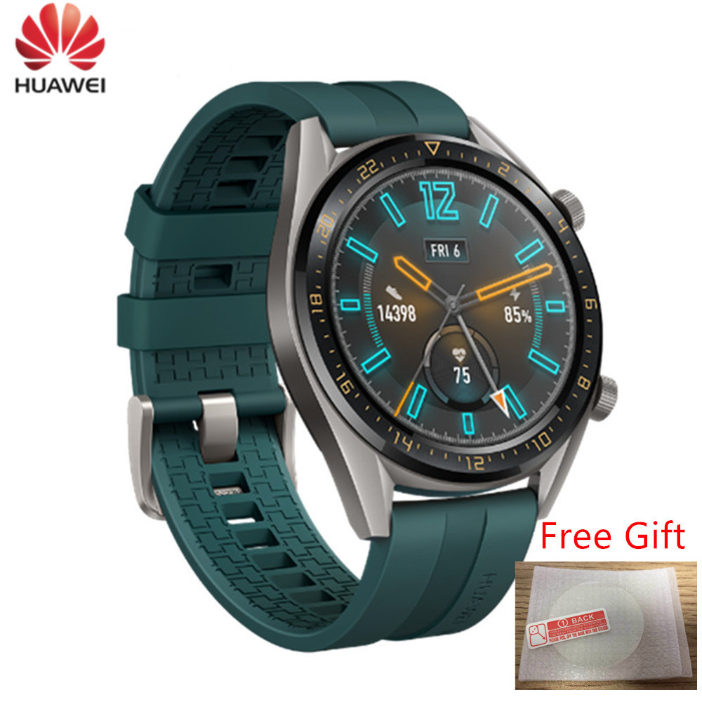 Huawei Watch GT Smartwatch supports GPS NFC 14 Days Battery Life 5ATM waterproof Phone Call Heart Rate Tracker For iOS Android Smart Watches     - title=