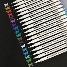 18 farben set Metallic Marker Stift Weichen Pinsel Marker Stift Für DIY Scrapbooking Handwerk Schreibwaren Schule Kunst Liefert