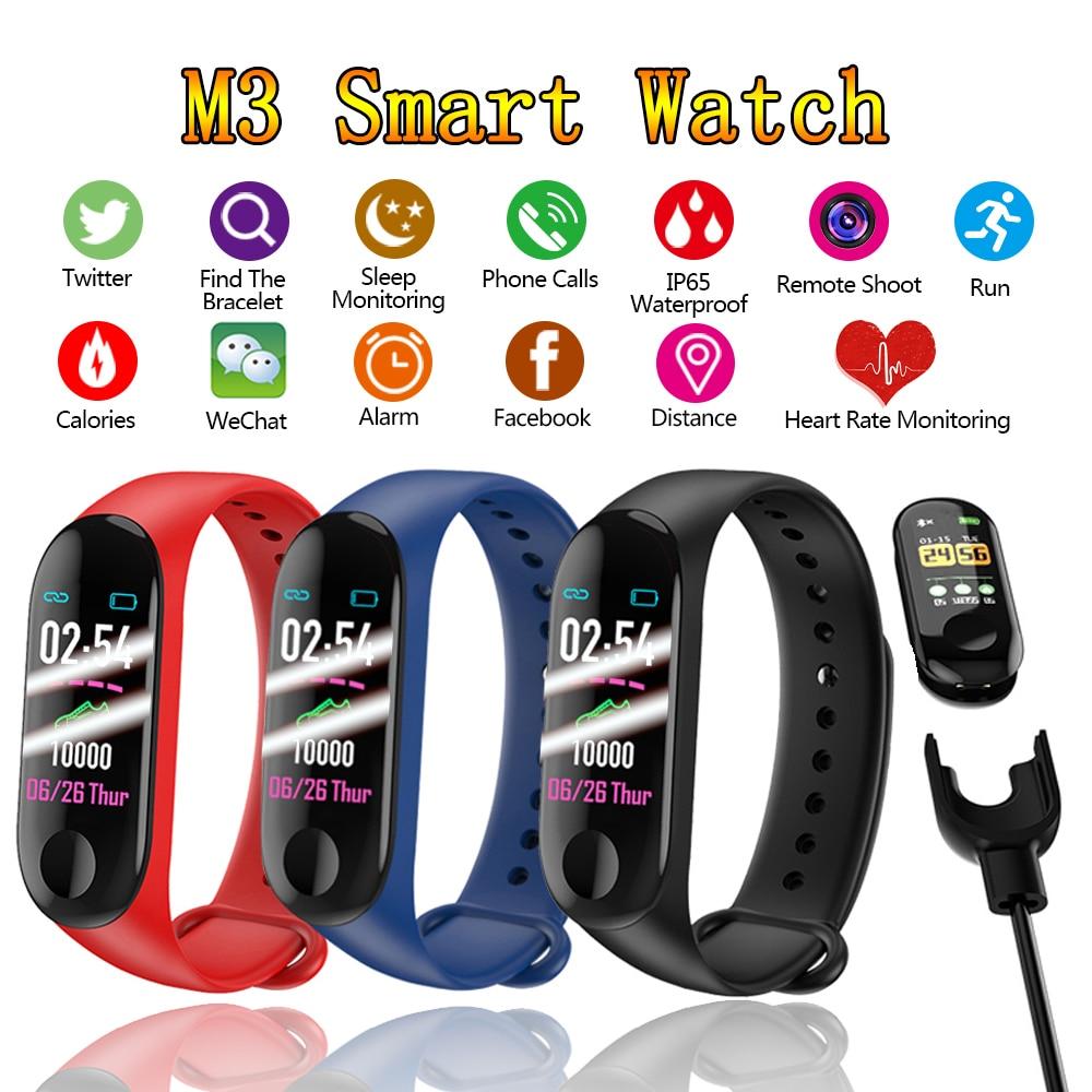 M3 Smart Watch Send Charger Wristband IP67 Waterproof Fitness Tracker Smart Bracelet Big Touch Screen For Men Women Watches