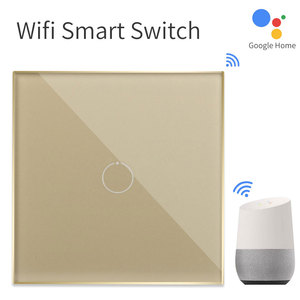 Image 2 - Bingoelec 1 Gang 1 Way WiFi Smart Switch Crystal Glass Panel Wall Light Switch Smart Home Automation Wireless Work For Tuya APP