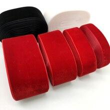 5 ярдов 6-50 мм бархатная лента черный белый красный Свадебная вечеринка украшения ручной работы лента подарочная упаковка бантик для волос DIY