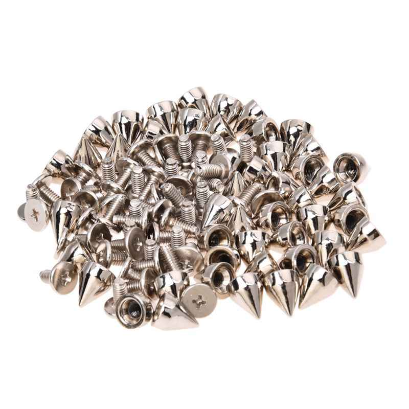 50Pcs Metal Cone Screwback Spikes Stud Lederen Doek Craft DIY Goth Punk Spot