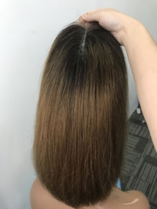 Image 5 - 13X4 Ombre 1B30 Colored Straight Bob Lace Front Wig For Women Lace Frontal Wig Pre Plucked With Baby Hair Cara Remy