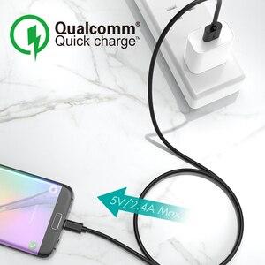 Image 5 - CHOETECH 10 قطعة مجموعة مايكرو USB كابل 5 فولت 2.4A لسامسونج 3.9ft 1.2 متر سريع شاحن كابل الهاتف ل شاومي نوكيا ASUS oppo