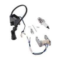 Cdi bobina de ignição magneto para motor motorizado 49cc 66cc 80cc bicicleta vela de ignição