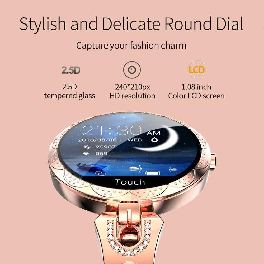 Cobrafly AK15 Smart Watch Wanita Gelang Denyut Jantung Pemantauan IP67 Tahan Air Kebugaran Tracker Jam Tangan Wanita untuk Xiaomi iPhone