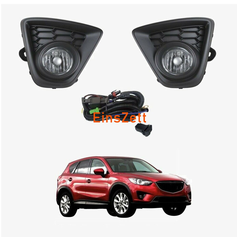 1set Car Fog Lamp Assembly for <font><b>Mazda</b></font> <font><b>CX</b></font>-<font><b>5</b></font> 2013-<font><b>2016</b></font> Front Bumper Lamp Halogen Bulb Day Light with Wiring & Switch image