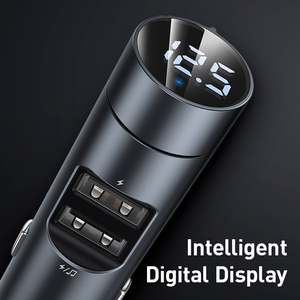 Image 4 - Baseus Car Charger Bluetooth 5.0 FM Transmitter Modulator Handsfree Audio Receiver Auto MP3 Player 3.1A Dual USB Fast Charger