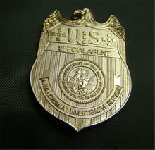 Agenci NCIS odznaka agentów specjalnych marynarki wojennej w sprawach karnych służby śledcze film w całości z metalu złota replika talia odznaka Pin Halloween Cosplay tanie tanio BADGE