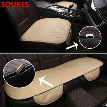 Business Plaid Car Leather Cushion Seat Cover Pad For Subaru Forester Impreza Kia Ceed Rio Citroen C4 C3 C5 Fiat BMW E70 G30 E30 image