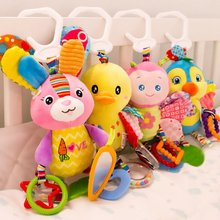 Baby Toys 0-1 Year Old Trailer Animal Doll Bed Hanging Plush