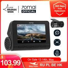 Kod: TARYFA10 70mai kamera na deskę rozdzielczą 4K A800S podwójny celownik 70mai A800S GPS ADAS przedni i tylny wideorejestrator samochodowy 2160P 4K 24H Parking 140FOV