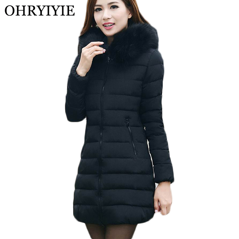 Plus Size <font><b>7XL</b></font> Womens Winter Jackets And <font><b>Coats</b></font> 2019 Parkas Mujer Female Thick Hooded Long Down Cotton <font><b>Coats</b></font> Winter Manteau Femme image