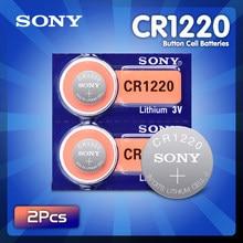Оригинальные кнопочные батарейки SONY CR1220, 2 шт./лот, батарейки CR 1220 3 в, литиевая батарейка BR1220 DL1220 ECR1220 LM1220