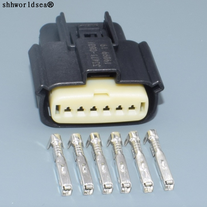 Shhworldsea For Molex 6 Pin/Way Automotive Plug Female Connector 33471-0601 For Ford Buick Chevrolet