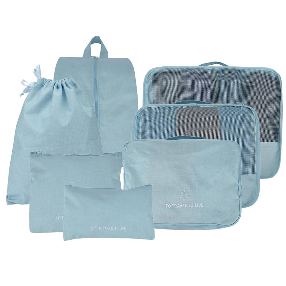 Packing-Cubes Shoe-Bag Luggage Draw-Pocket Clothing Travel Set with Protect And And