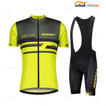 Camisa de manga curta masculina conjunto 2021 scottes rc verão estrada ciclo roupas ao ar livre pro equipe ropa de ciclismo hombre secagem rápida