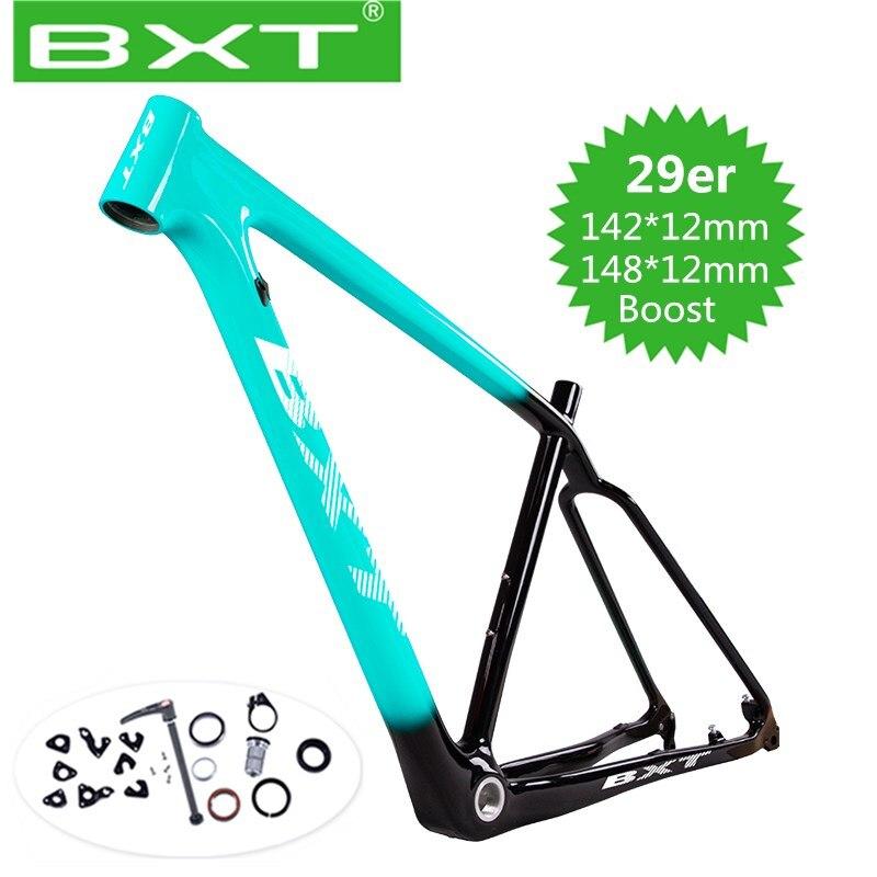 2020 BXT T800 Carbon Mtb Frame 29er Mtb Carbon Frame 29 Carbon Mountain Bike Frame Boost 148/142*12 Or 135*9mm Bicycle Frame