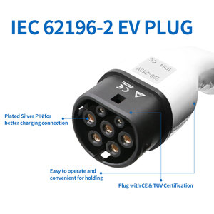Image 3 - type2 plug 32A EV Charger plug IEC 62196 2 EU standard Mennekes Type 2 female connector car side for All electric Vehicle