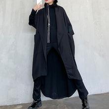 Xuxi весна осень 2020 Женское пальто с открытой строчкой асимметричная