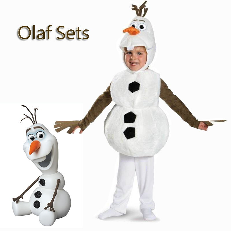 Infant Olaf Costume | Baby Child Olaf Halloween Toddler Cosplay Costume For Kids Favorite Cartoon Movie Snowman Party Performance Costumes Dress Up