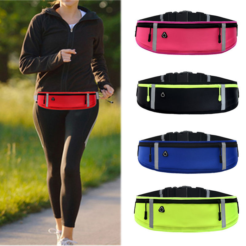 Unisex Waist Bag Women Sports Belt Waist Pouch Men Sports Running Cycling Phone Bag Waterproof Holder Women Running Waist Pouch