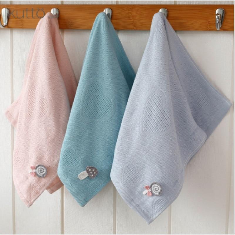 25*50 cm Newborn Kid Baby Handkerchief  Face Hand Cartoon Bathing Towel Pure Cotton Infant Wipe Cloth