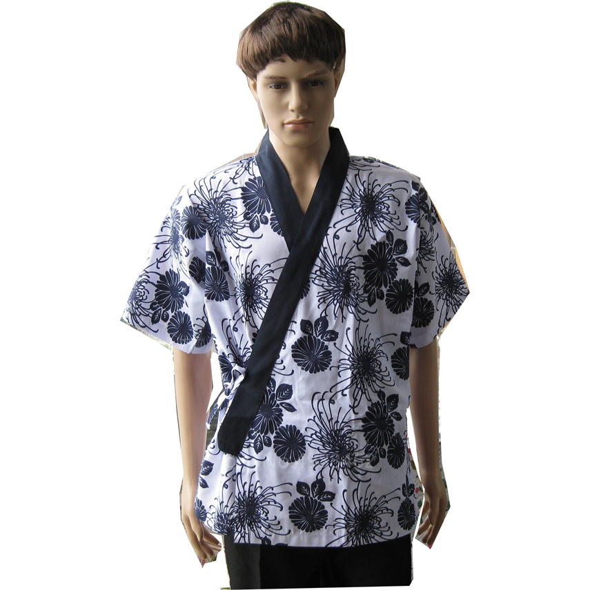 2020 News Top Chef Unifom Japanese Style Unisex Kimono For Women Men Restanrant Sushi Costumes Coat Waiter Food Service Clothing
