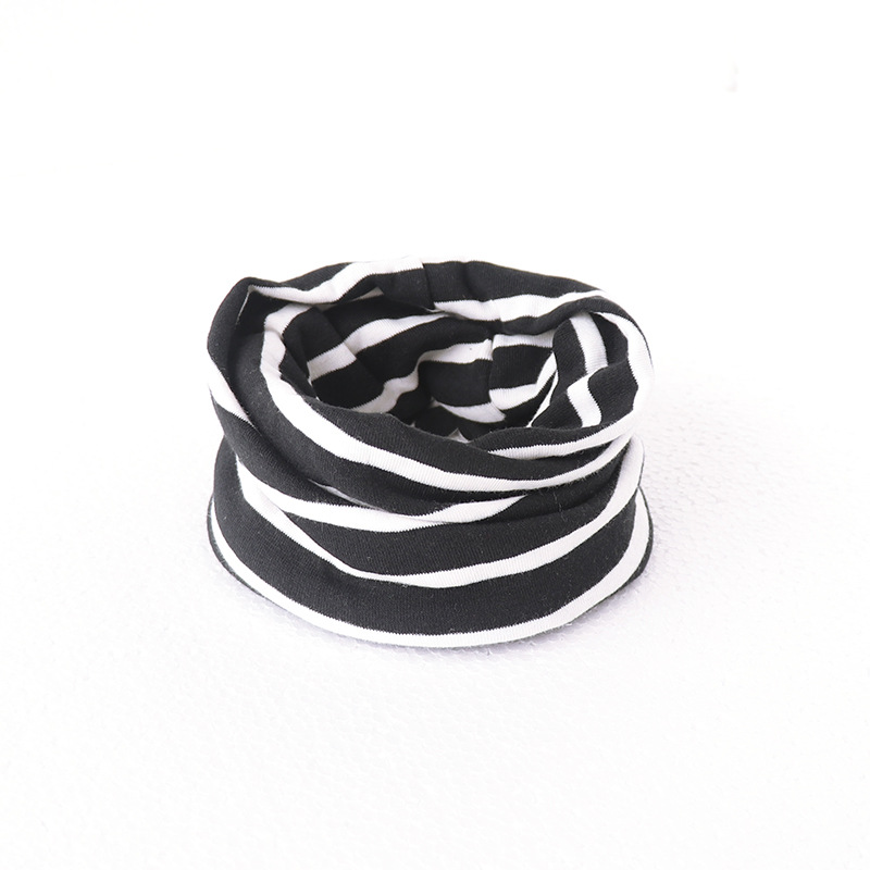 Милый хлопковый детский шарф, Детские однотонные осенне-зимние теплые шарфы с принтом, шарф с круглым вырезом для мальчиков и девочек - Цвет: 22
