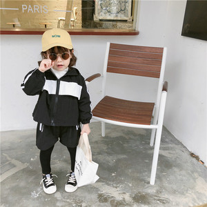 Image 5 - 2019 Autumn New Arrival clothing sets thickened hooded matching colors jacket with long pants fashion suit for girls and boys
