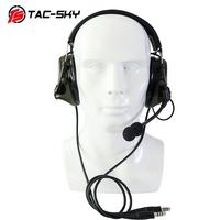 outdoor sports TAC-SKY COMTAC III Silicone Earmuffs Double Pass Edition Outdoor Hunting Sports Noise Reduction Pickup Tactical Headset - FG (1)