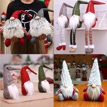 Рождественские украшения в виде Санта-Клауса, снеговика, лося, рождественские украшения, вечерние украшения для дома, подарок на год