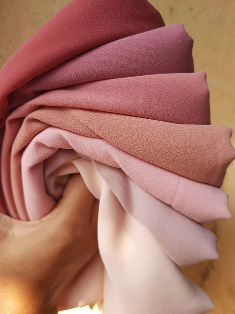Chiffon Hijab Scarves Wraps Shawls Foulard Muslim Veil Solid-Color-Head Women Ladies