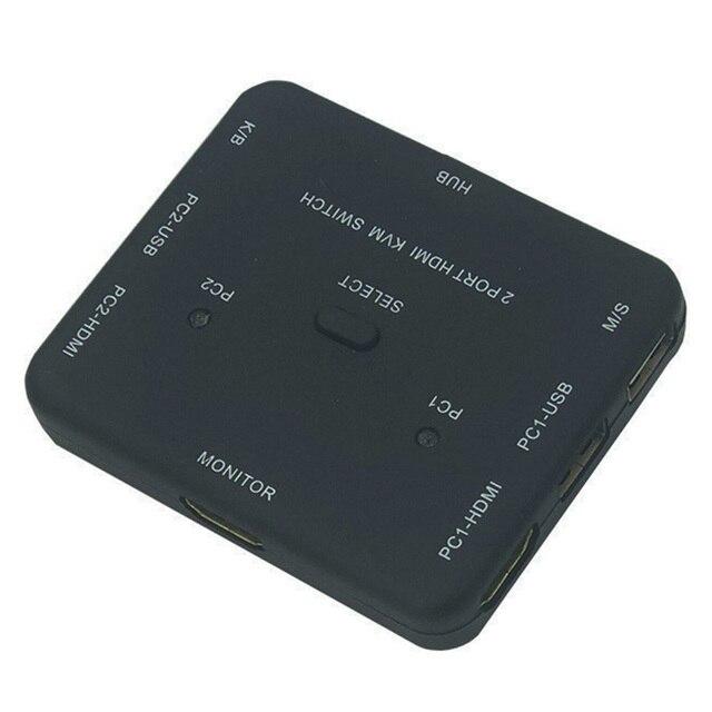 HDMI KVM מתג 1.4v Switcher 2 יציאת 4K HDMI USB עכבר ומקלדת צג בורר שיתוף HDMI מתג KVM עם usb